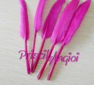 Pluma recta OCA color FUCSIA 10-15 cm