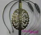 Tiara diadema BRONCE VINTAGE 38 cm ancho 5 mm filigrana 45x35 mm