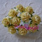 10 rosas abiertas 1.0 cm color amarillo