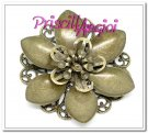 Fornitura filigrana bronce FLOR 42 mm