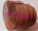 COPPER Ribbon sinamay bias binding 3 cm wide
