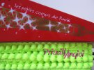 LIME FLUORESCENT little Pom pom fringe / trim - 50 cm - ribbon