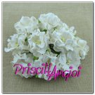Gardenias en papel mulberry 3.5 mm BLANCO ROTO ( 5 uds)
