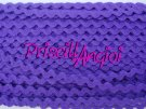 PURPLE Ric Rac Tape Embellishments Clothing 8mm ( 0.50)