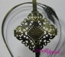 Tiara diadema BRONCE VINTAGE 38 cm ancho 4.8 mm filigrana 37 mm