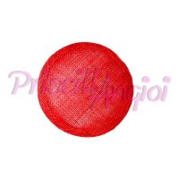 Base sinamay para tocado Redonda 11 cm color ROJO POPPY