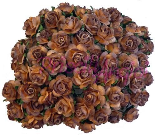 Rosa 20 Mm Color Marron Y Chocolate 5 Piezas Mkx 033 20 - Marron-y-chocolate